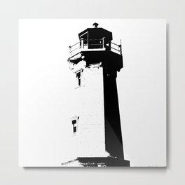 Lighthouse [Black] Metal Print