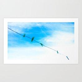 El tendedero Art Print