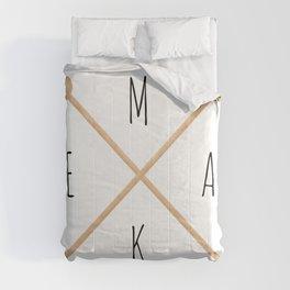 MAKE  |  Knitting Needles Comforters