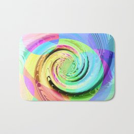 Re-Created Twisters No. 8 by Robert S. Lee Bath Mat