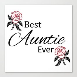 Best Auntie Ever Design Canvas Print