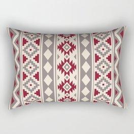 Aztec Essence Ptn IIIb Red Cream Taupe Rectangular Pillow