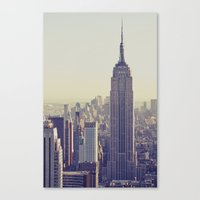 nyc Canvas Prints featuring NYC by Chernobylbob