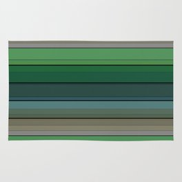 Striped green-gray pattern Rug