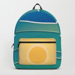 The sun comes and goes but the waves remain Backpack