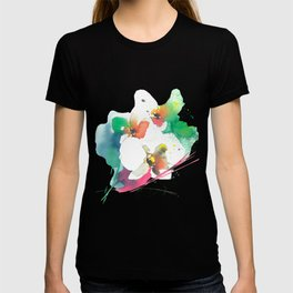 Abstract Orchids in Watercolor T-shirt
