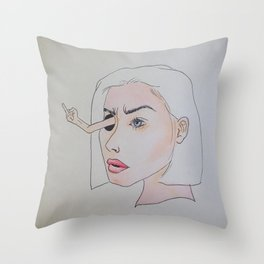 Death Stare Throw Pillow
