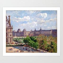 Camille Pissarro Place du Carrousel, Paris Art Print