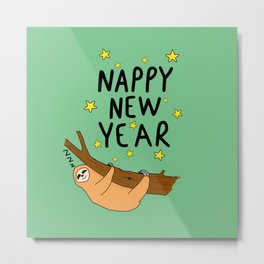 Nappy New year Metal Print
