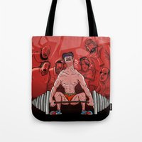 train Tote Bags featuring Train by Lee Grace Design and Illustration