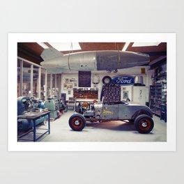Hot Rod Garage Art Print
