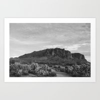 Superstition Mountians Art Print