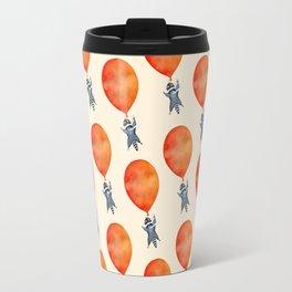 Raccoon and Balloon Travel Mug