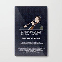 The Great Game - Sherlock Holmes Metal Print