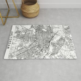 Amsterdam White Map Rug
