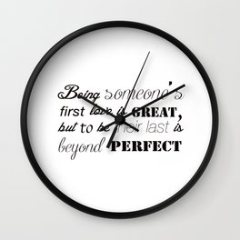 Love Quote Wall Clock