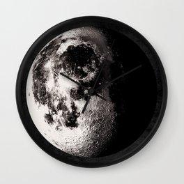Gibbous Moon Poster, Moon Art Print, Square Moon Print, Wall Art, Home Decor, Luna Poster, Moon Print, Lunar Moon Print, Luna Moon, Waning Gibbous Moon, Black and White, Gibbous Moon Art Print, Moon Phase Wall Clock
