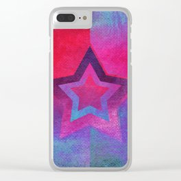 Suprematist Star V Clear iPhone Case