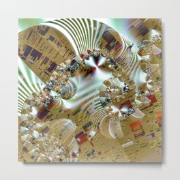 Relaxing from the chaos of strict structures Metal Print
