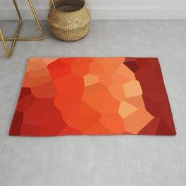 Pixels Pincushion Protea Red Rug