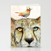 cheetah Stationery Cards featuring Cheetah by dogooder
