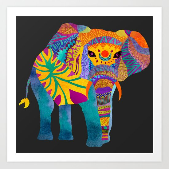 Whimsical Elephant II Art Print