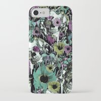 sandman iPhone & iPod Cases featuring Mrs. Sandman, melting rose skull pattern by Kristy Patterson Design