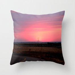 Sunset Versus Distribution Throw Pillow
