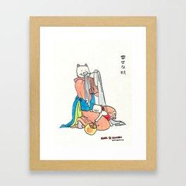 Haha and Konecko Framed Art Print