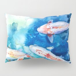 Koi Fish Watercolor by Julesofthsea Pillow Sham