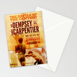 The battle of the century Stationery Cards