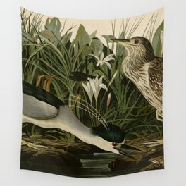 236 Night Heron or Qua bird Wall Tapestry