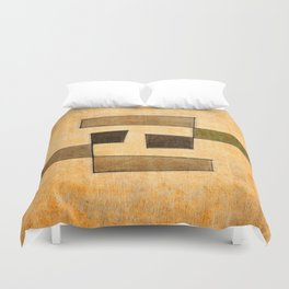 Protoglifo 03 'brown dance' Duvet Cover