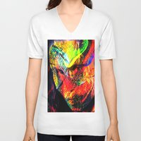graffiti V-neck T-shirts featuring Graffiti !! by shiva camille