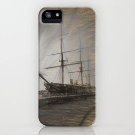 Warrior sketch iPhone Case