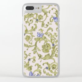 Butterfly Leaf Baroque Floral Clear iPhone Case