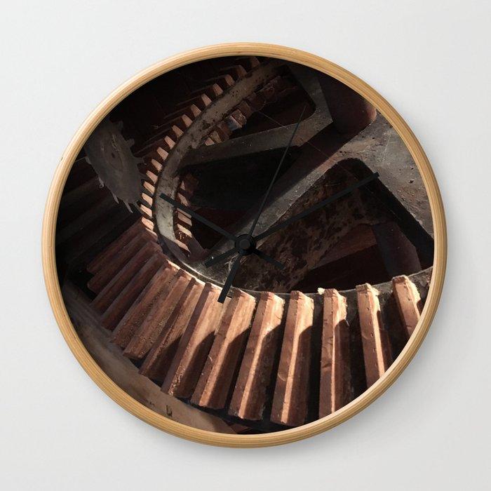 Grist Mill Gears Wall Clock