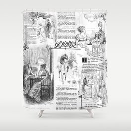 Pride and Prejudice - Pages Shower Curtain