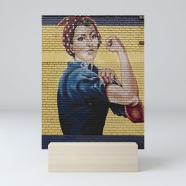 Rosie the Riveter Mural Mini Art Print