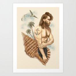 CASTAWAY Art Print