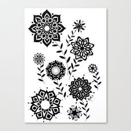 Geometric Flowers number 2 Canvas Print
