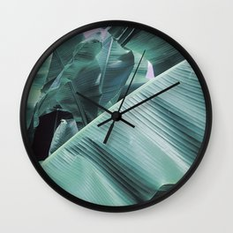 Modern palm tree Wall Clock