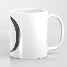 Letter D Initial Monogram Black and White Coffee Mug