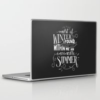 camus Laptop & iPad Skins featuring Albert Camus - In the Midst of Winter by Amber Serene
