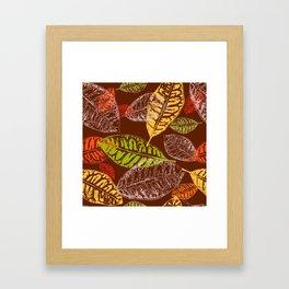 Autumn leaves #7 Framed Art Print