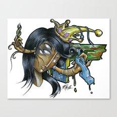 - Black Music Queen - Mr.Klevra Canvas Print