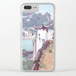 Sekishozan (Shi-chung-shan, South China) by Yoshida Hiroshi - Japanese Vintage Ukiyo-e Painting Clear iPhone Case