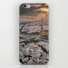 Paris from the air iPhone Skin