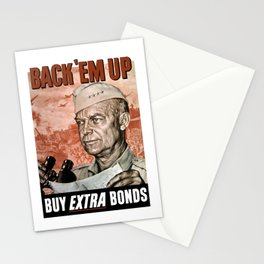 Back 'Em Up -- General Eisenhower Stationery Cards