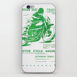 Vintage Café racer British Motor Bike Racing Poster iPhone Skin